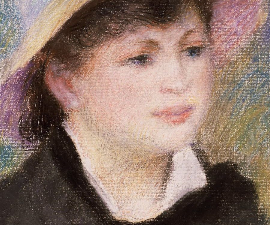 A detail of a Renoir painting showing variance of edge quality