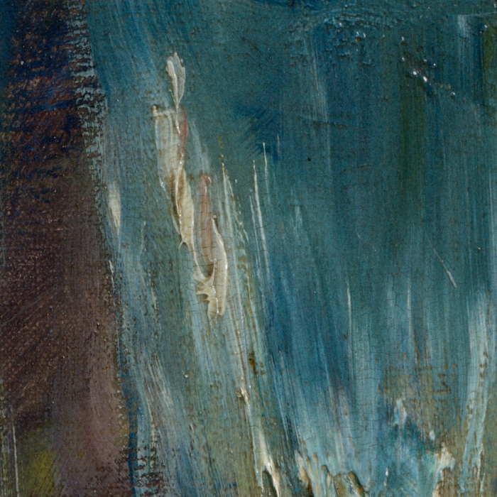 A detail of a painting by Renoir